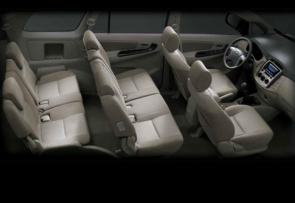 Toyota innova 2 7 aut 2016 for Innova interior 8 seater